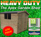 8x6 Heavy Duty Loglap Apex Shed Tanalised Treated T&G Storage Wooden Garden Shed