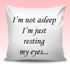 Personalised Sleep Quote Cushion Cover Christmas Birthday Gift Teens Kids