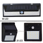 20/90 LED Solar Power PIR Motion Sensor Wall Light Outdoor Garden Walkway Lamp