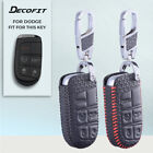 Leather Remote Key Fob for Jeep Fiat Dodge Chrysler Grand Cherokee Cover Case $8.99 USD on eBay