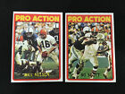 CLEVELAND BROWNS 1972 TOPPS BILL NELSEN & BO SCOTT PRO ACTION FOOTBALL CARDS