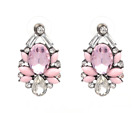 Gorgeous Anthropoligie  inspired Pink  Crystal Rhinestone Crew  Earrings
