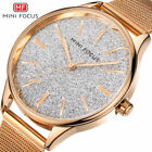 Women Watches MINI FOCUS Stainless Steel Mesh Band Casual Ladies Quartz Watch