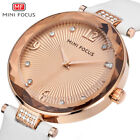 MINI FOCUS Diamonds Leather Women Watches Ladies Girl Quartz Watch Wristwatch