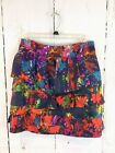 Anthropologiw Leifsdottir Multi Color Abstract Pleated Silk Skirt Sz 6