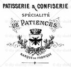 Furniture Decal Image Transfer Vintage Shabby Chic Patisserie Cake Shop Bee Diy