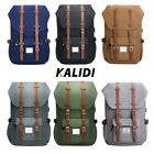 KALIDI Canvas Travel Backpack Rucksack School Bag for 15.6 inch Laptop Notebook