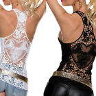 Sexy.Women Summer Lace Vest Top Sleeveless Shirt Blouse Casual Tank Tops QH