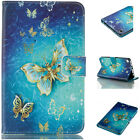 Painted 3D Card PU Flip Leather Stand Case Cover For Tablet Kindle Fire Samsung