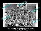 OLD LARGE HISTORIC PHOTO OF WWI AUST ANZAC 9th LIGHT HORSE, CAPT MALCOLM c1918