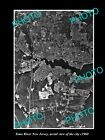 OLD LARGE HISTORIC PHOTO OF TOMS RIVER NEW JERSEY, AERIAL VIEW OF THE AREA c1960