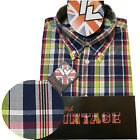 Warrior UK England Button Down Shirt CRAIG Hemd Slim-Fit Skinhead Mod