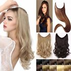 Secret Headband Elastic Wire One Piece as real Hair Extensions Straight Wavy fo2