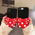 Cute Disney Minnie Mickey Mouse Silicone Stand Case For iPhone X 6 6s 7 8 Plus