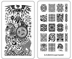 Ejiubas 1 Count Double-Sided Nail Stamping Plates Celtics Style Easy DIY Nail Ar