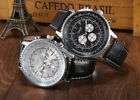 JARAGAR Navitimer Homage Automatic Mechanical Watch Leather Black Submariner Men image