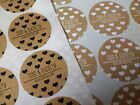 WEDDING STICKERS kraft effect labels hearts favours personalised name date K1