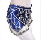 Velvet Hip Scarf Belt Chain with Sequins Coins Beads Egypt Belly Dance Costumes