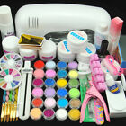 9W UV Dryer Lamp 24 Acrylic Powder UV Gel Top Base Coat Primer Nail Art Tips Kit