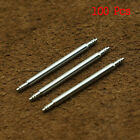 100 Pcs Stainless Steel Spring Bar Pins Link Watch Band Strap Chain Pin Remover image