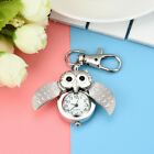 Fashion Gorgeous Owl Watch Clip Pocket Keychain Pendant Hanging Watches Gifts