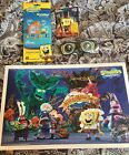 SDCC 2017 NICKELDEON Spongebob Squarepants Signed Poster + Glasses + Mega Bloks