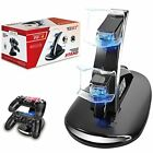 Design Dual USB Charging station Dock Stand Playstation 4 PS4 Games Accessories