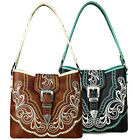 New! Montana West® Concealed Carry, Western Buckle Medium Hobo- 3 Color Choices