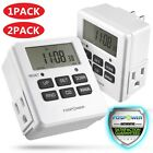 digital switch timer - 7 Day Heavy Duty Digital Electric Programmable Timer Dual Outlet Switch Battery