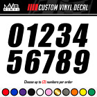 Racing Numbers Vinyl Decal Sticker | Dirt Bike Plate Number BMX Competition 498