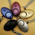 130dB Alarm Keychain LED Light Emergency Safe Sound Anti-rape Personal Alarm UK