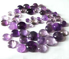 4mm-10mm Natural Round Cabochon Purple Amethyst Translucent Gemstone For jewelry