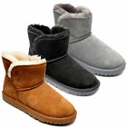 Womens FreeStep Genuine Sheepskin Lined Real Suede Ankle Boots Sizes 3 to 8