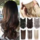 Secret HeadBand Wire 100% Natural Clip in Straight Wavy Hair Extensions Ombre F6