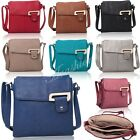 New Ladies Faux Leather Adjustable Strap Multi Pocket Messenger & Cross Body bag
