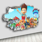 H101 Paw Patrol Kids Smashed Cool Decal Canvas 3D Smashed Hole Wall Vinyl Room