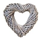 HEART WREATH, SHABBY CHIC WICKER HEART Wedding Valentines Day Christmas Gift
