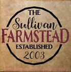 Farmstead Est Family Last Name Custom Wall Decals Vinyl Letters for Home Decor