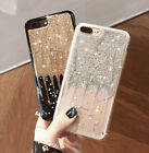 Luxury Bling Glitter Meteor Soft Phone Back Case Cover For Apple Iphone 6s 7 8 5