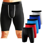 Mens Compression Shorts Exercise Base Layer Tights Gym Running Sweat Shorts