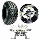 "Yamaha Jake's Golf Cart Lift Kit and 22"" All Terrain Tires With 10"" Wheels Combo"