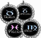 Custom Zodiac Sign Bottle Cap Necklace w/Chain Handcrafted Personalized Gift