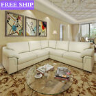 New Quality Panana Corner Sofa Bonded Faux Leather Luxury Black  Brown or Cream