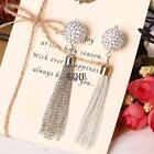 Fashion Tassel Chain Cell Phone Pendant Rhinestone Ball Keychain Handbag KECP