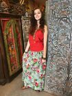 Boho Gypsy Hippie Long MAXI Skirts Printed FLARED Rayon BOHEMIAN HOLIDAY Fashion