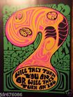 GROOVY BLACK LIGHT PSYCHEDELIC ART WILL THEY TURN YOU CHOPPER BOOK PRINT POSTER