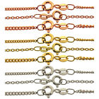 """Italian Made 9ct Gold & 925 Silver Plated Curb Trace Chains Necklace 16"""" - 40"""""""