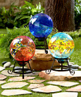 Garden Gazing Ball Yard Decorations Lawn Outdoor Art Accent Globe with Stand
