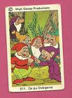 Snow White & Seven Dwarfs  Vintage 1970s Walt Disney Card from Sweden #511