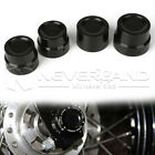 CNC Black Rear & Front Axle Nut Cover Bolt Kit For Harley Sportsters Softails $10.99 USD on eBay